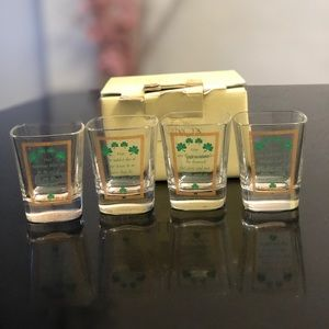 Lenox Irish Toasting shot glasses